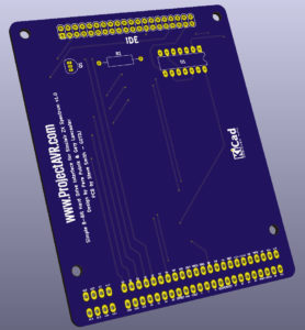 Simple 8-Bit IDE Interface KiCad 3D Preview