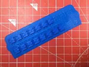 A Strip of 3D Printed Slot Keys